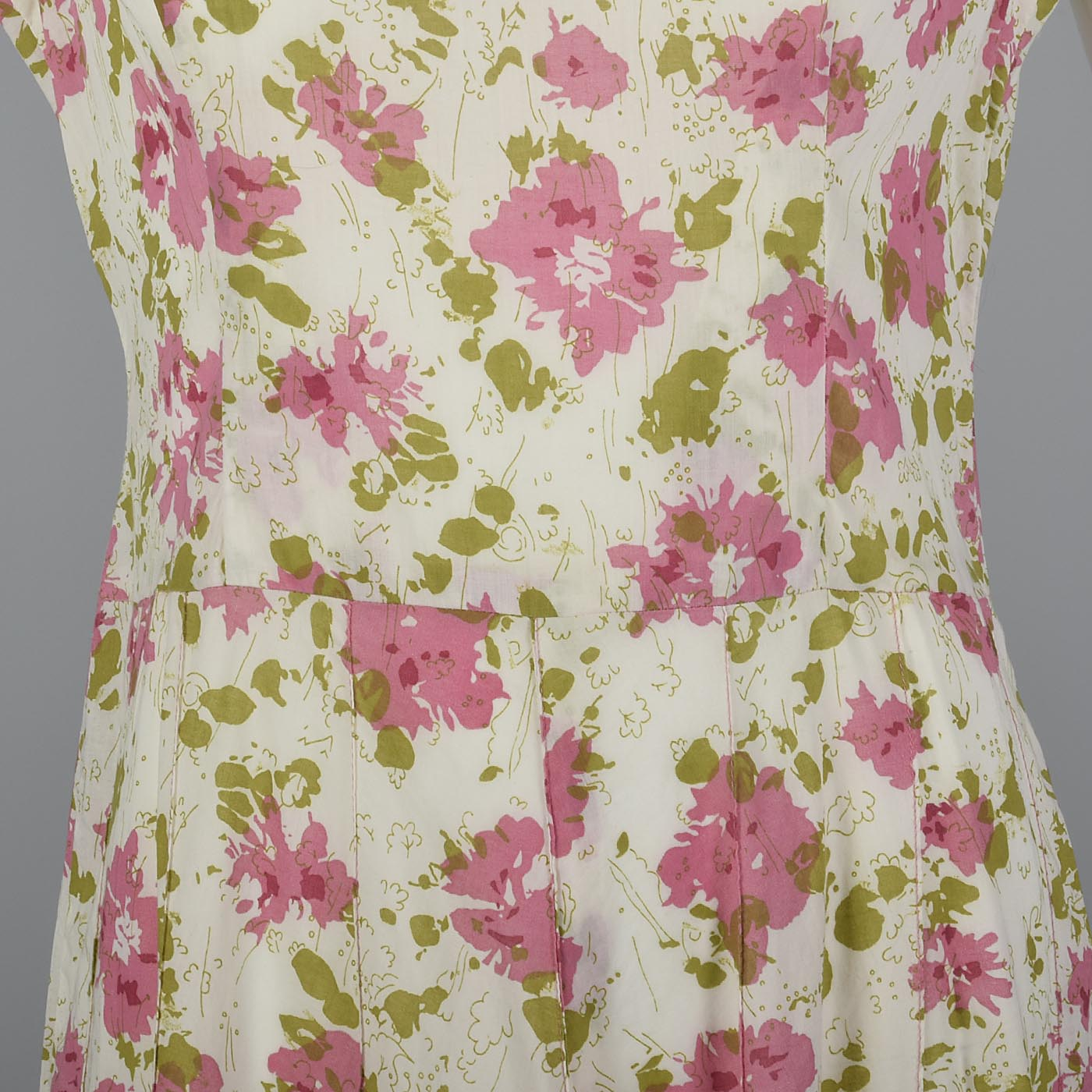 e6dbe2c1edd 1930s Loose Flowy Cotton Simple Summer Day Dress Sleeveless Casual VTG 30s  Pink