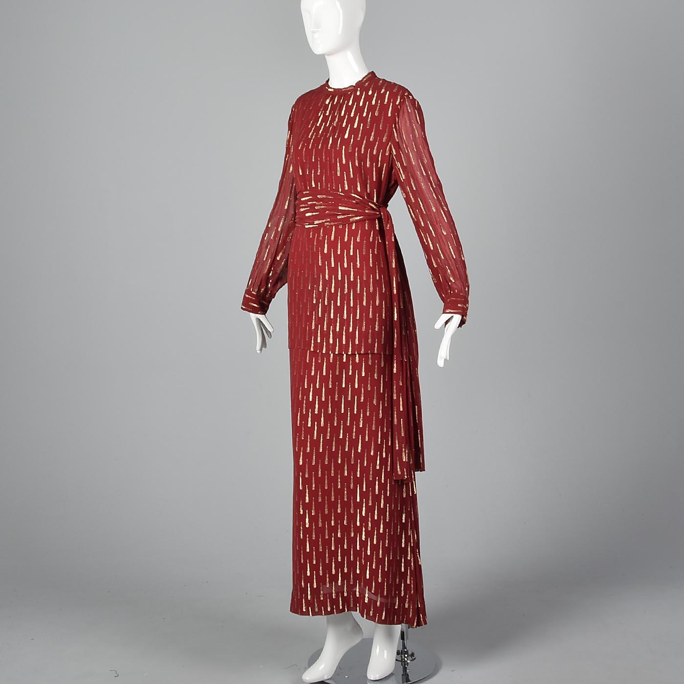 Adele Simpson Elegant Evening Gown Romantic Formal Dress Loose Flowy ...