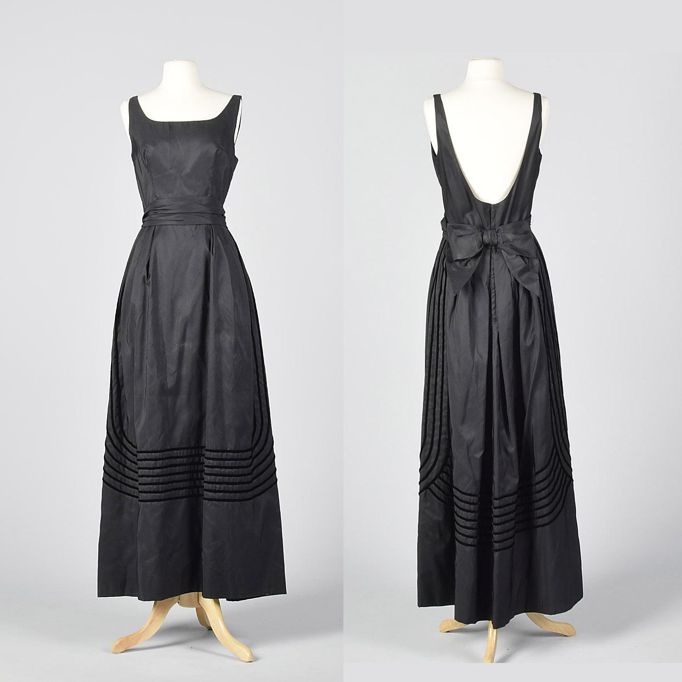 Backless Black Evening Dresses