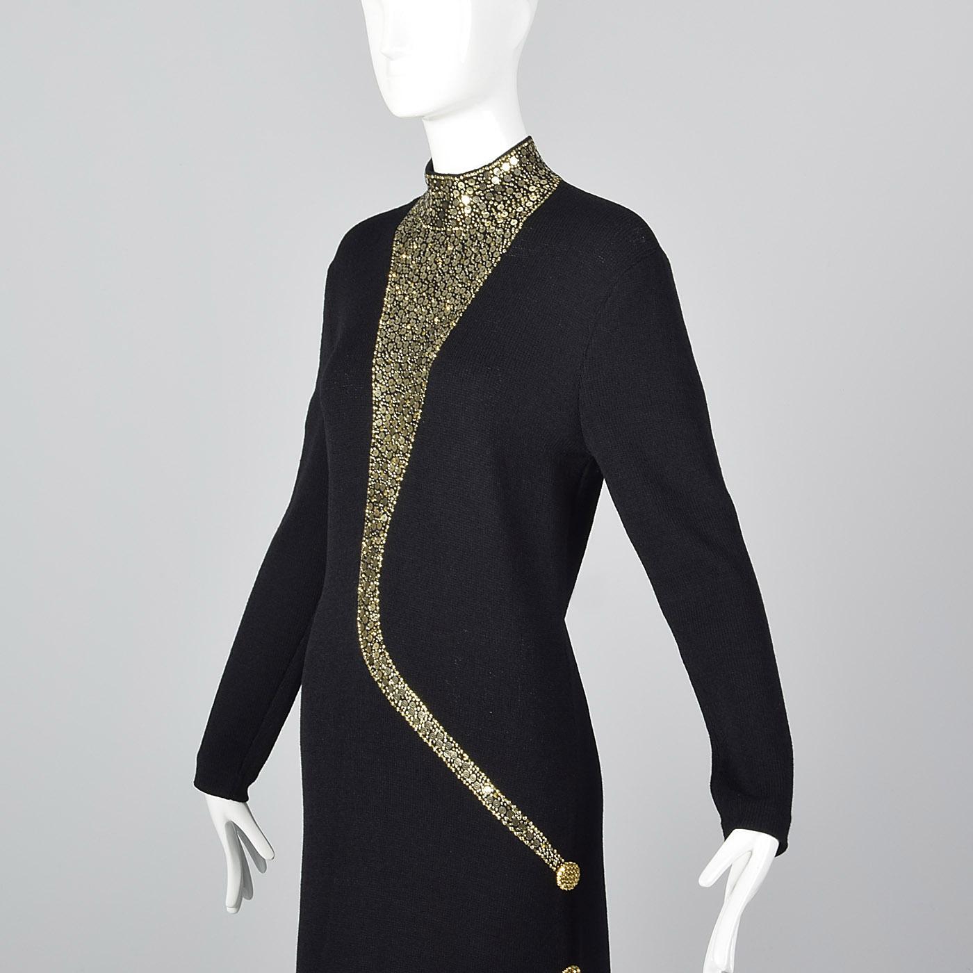 St John Evening Dress Long Sleeve Pencil Simple Winter Knit Sweater ...