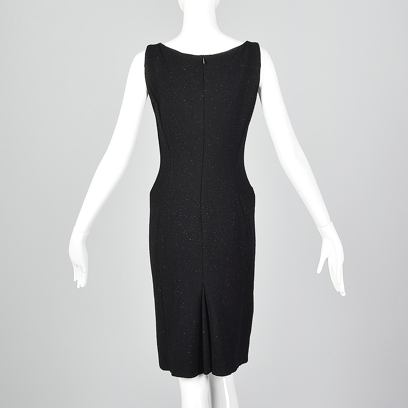 1c390f5767c3 M Moschino Cheap & Chic Tight Black Pencil Dress Lurex LBD Cocktail ...