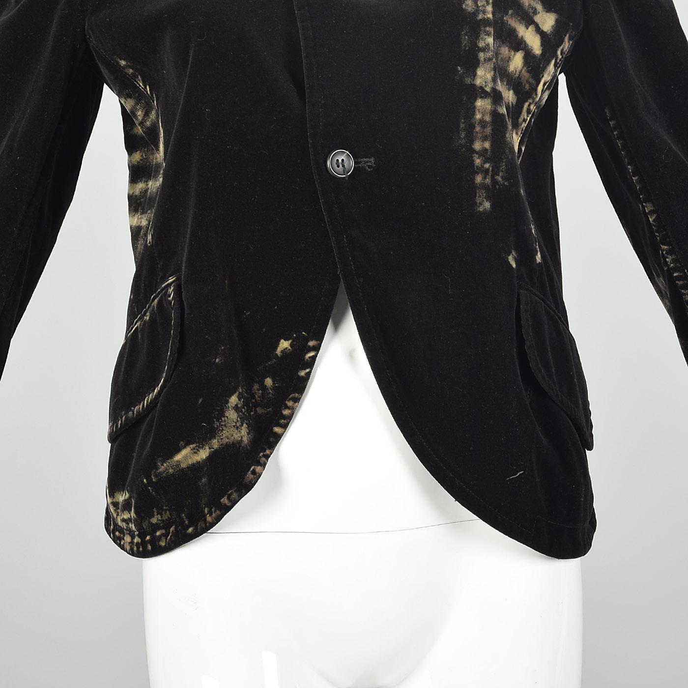 Medium Yohji Yamamoto Black Cotton Velvet Jacket Light Soft Faux Wear  Pockets cfed7a716