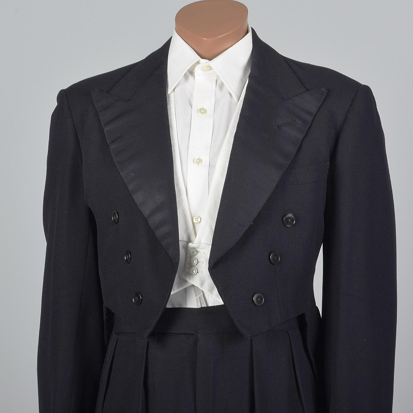 38 1950s Men Savile Row Tuxedo Black Tie White Tie Formal