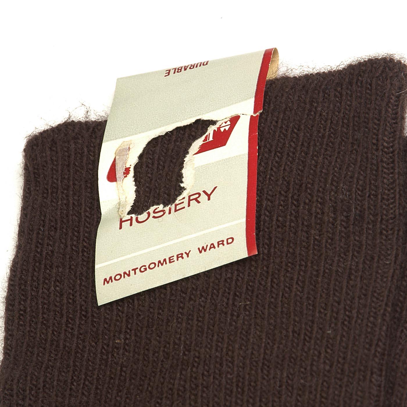 Clothing, Shoes & Accessories 1950s Deadstock Black Dress Socks Vtg Hose Silky Sheer Nylon Cotton Rib Knit Top