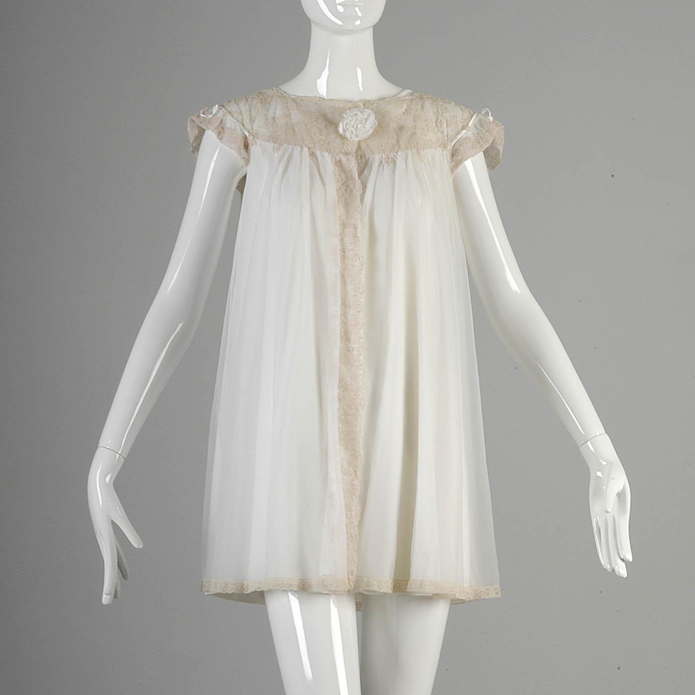 M Vintage 1960s 60s Alice Maloof Lingerie Set Chiffon