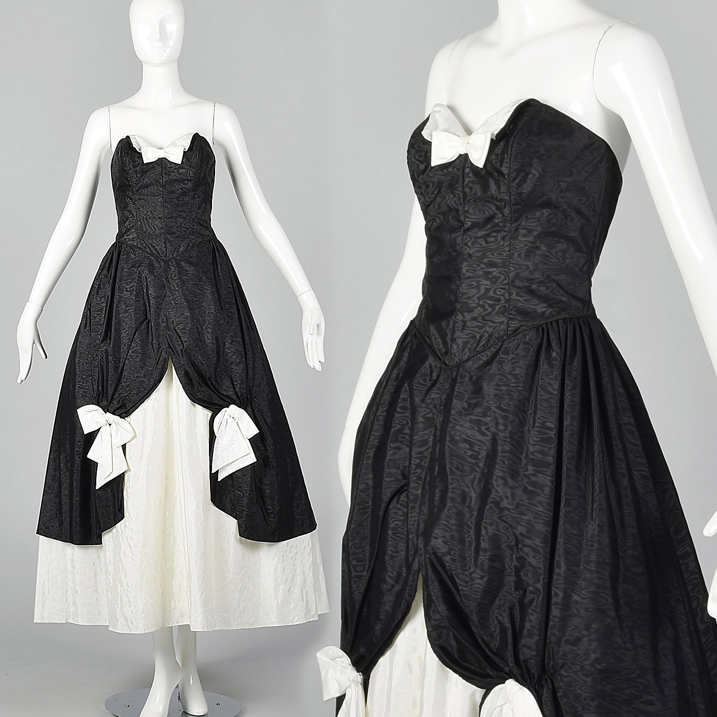 research black and white 80s dress