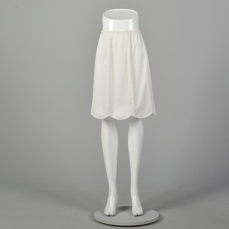 Vintage 1970s Half Slip Black Laros 70s Undergarments Sz M