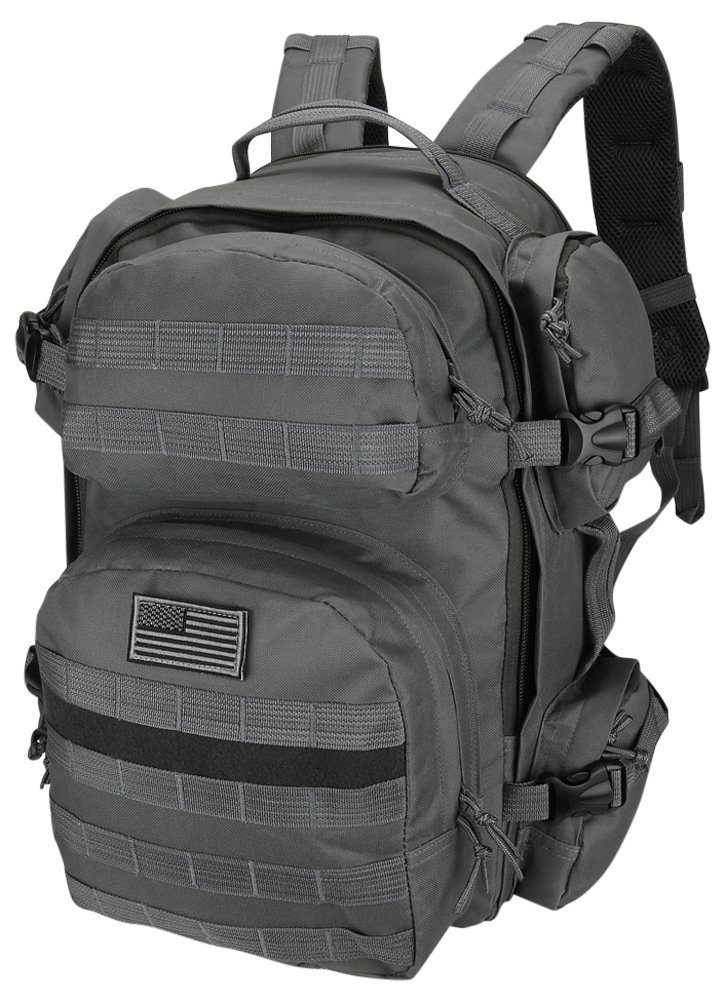 NPUSA Mens Large Expandable Tactical Molle Hydration-Ready Backpack Daypack Bag