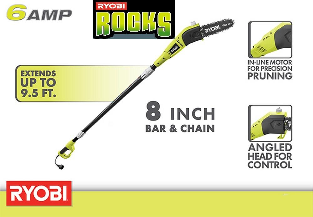 Ryobi RY43160 6 Amp Pole Chainsaw