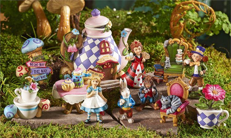my fairy gardens mini alice in wonderland complete set supplies accessories ebay. Black Bedroom Furniture Sets. Home Design Ideas