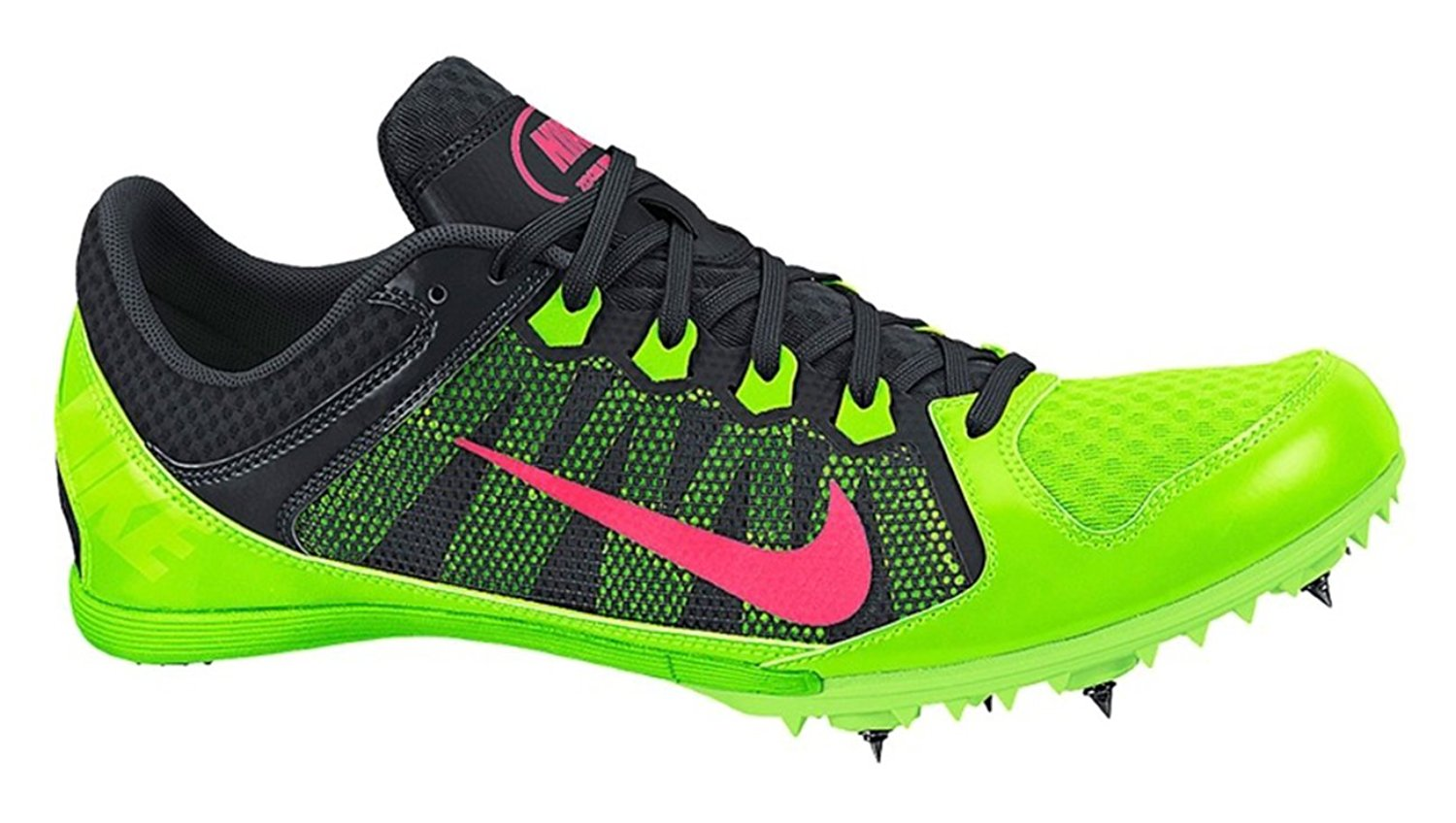 Nike Women s Zoom Rival MD 7 Athletic Track Shoes Green Black Punch ... 49ee7270ac8c