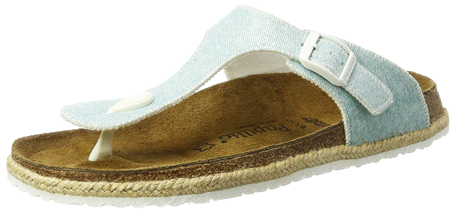 Papillio Papillio Papillio Women's Gizeh Textile Sandals Beach Light bluee Size EU 38 US 7-7.5M 70350a