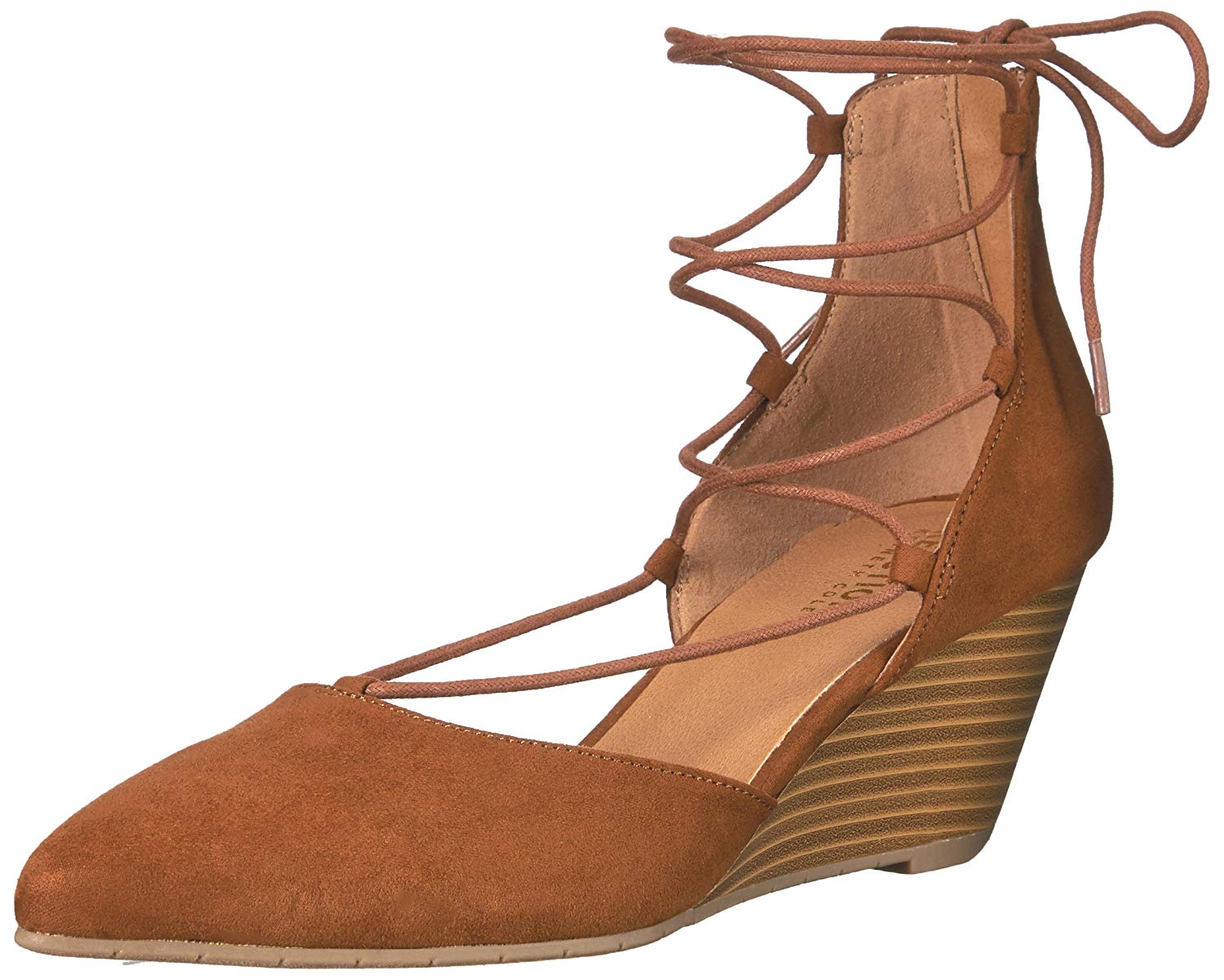 f73516f669a Kenneth Cole Reaction Women s Stand Down Wedge Pump Cognac Size 6.5M ...