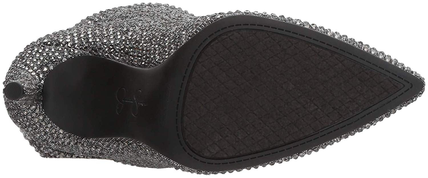 Jessica-Simpson-Women-039-s-Layzer-Embellished-Slouch-Stiletto-Boots-Pewter-Multi thumbnail 8