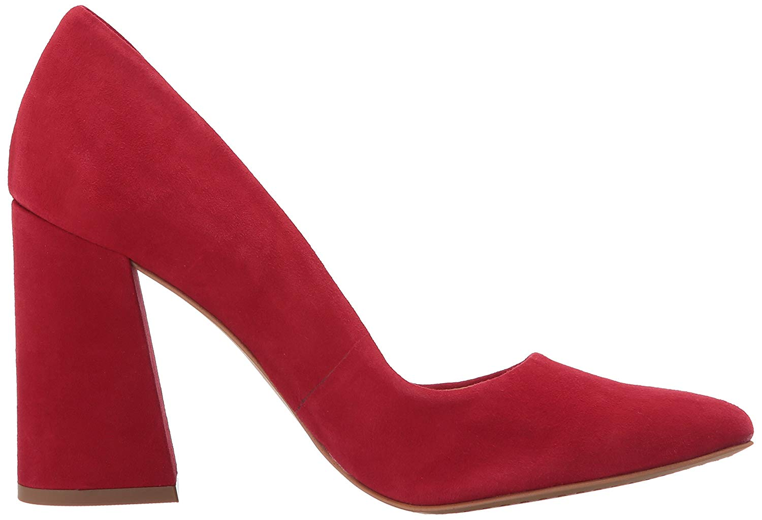 2d5d0055c6 Vince Camuto Women's Talise Suede Leather Block-Heel Pump Cherry Red ...