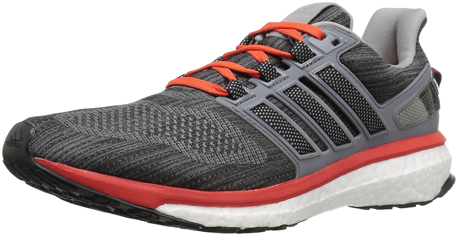 Adidas Men's Energy Boost 3 BB5785 Athletic Shoes Grey/Red Orange Size 12.0M