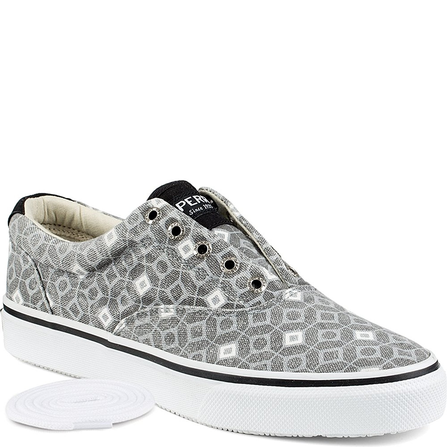 867e3de205d7 Details about Sperry Top-Sider Men s Striper LL CVO Fashion Sneakers Tile  Grey White