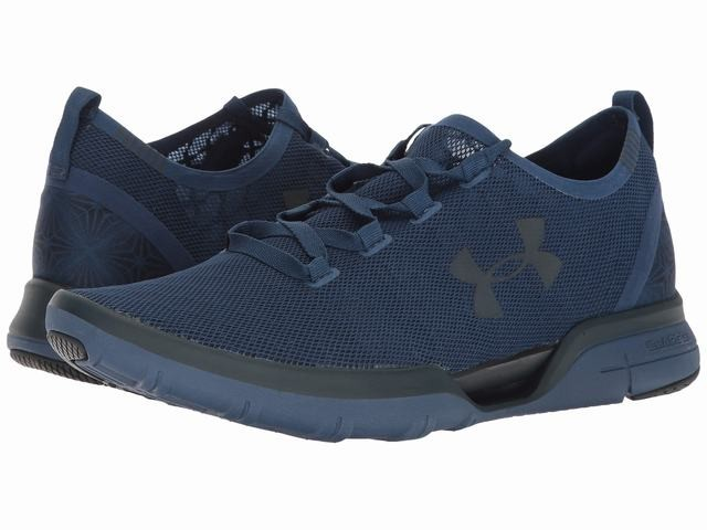 Under Armour Men s Charged CoolSwitch Run Athletic Shoes Navy Blue ... 39c9fd365