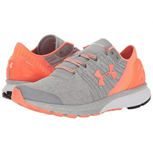 Details about Under Armour Women's Charged Bandit 2 Athletic Running Shoes Light GreySalmon