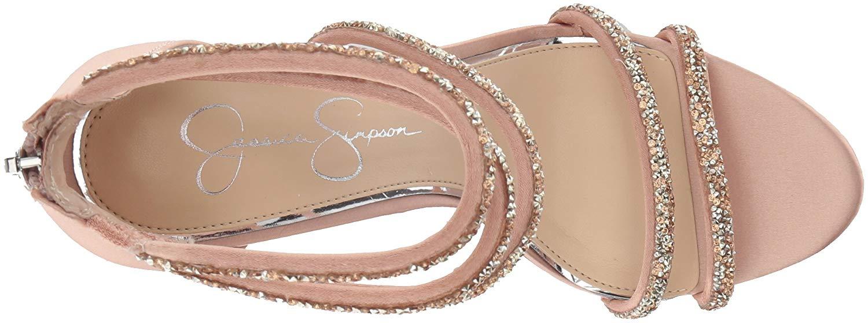 Jessica-Simpson-Women-039-s-Jamalee-Embellished-Rear-Zip-Dress-Pumps-Nude-Blush thumbnail 8