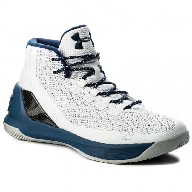 lowest price 06c88 e7079 Details about Under Armour Men's Curry 3 Lace-Up Athletic Basketball Shoes  White/Blue