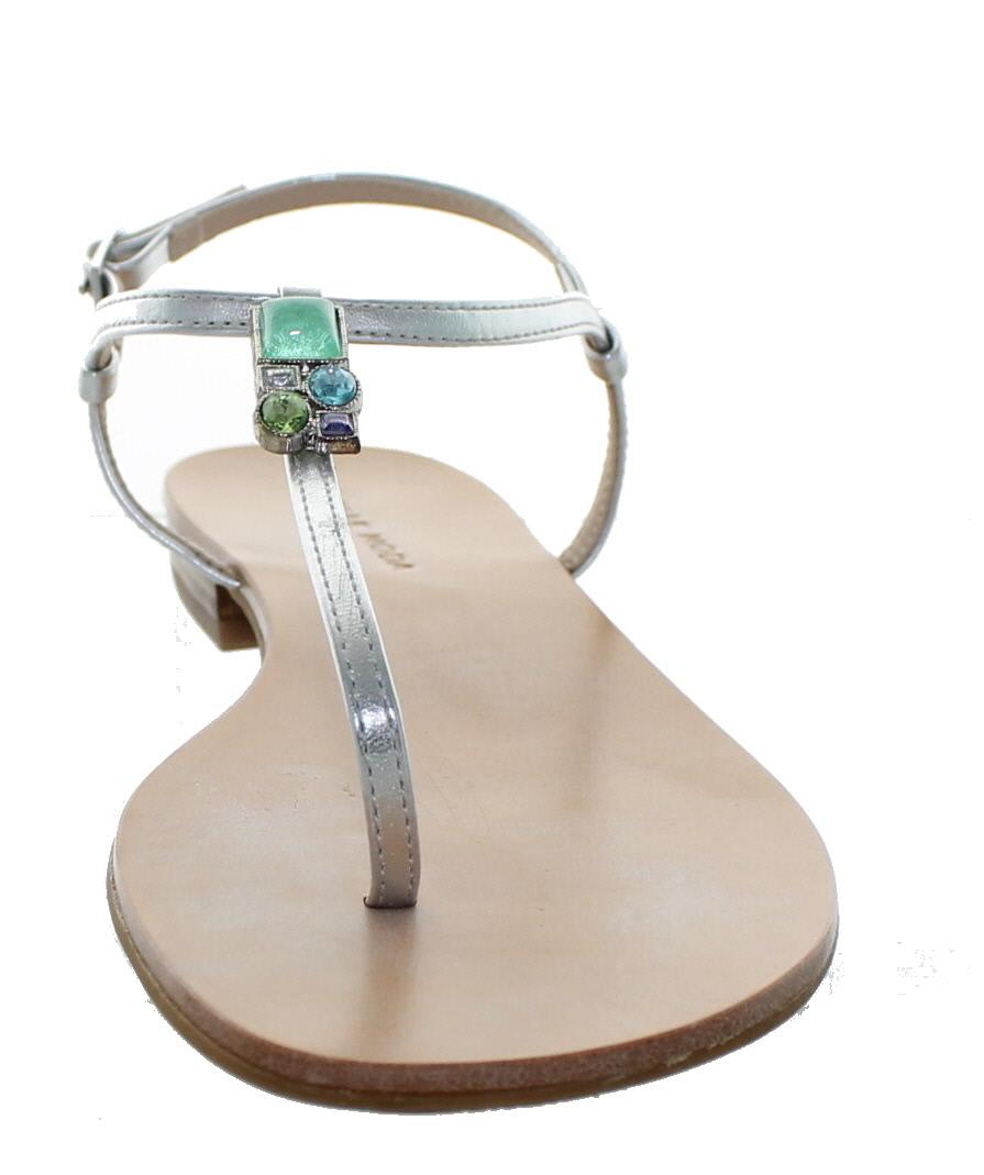 574225dd4 Pelle Moda Women s Baxley - MT Crystal Embellished Sandals Silver ...