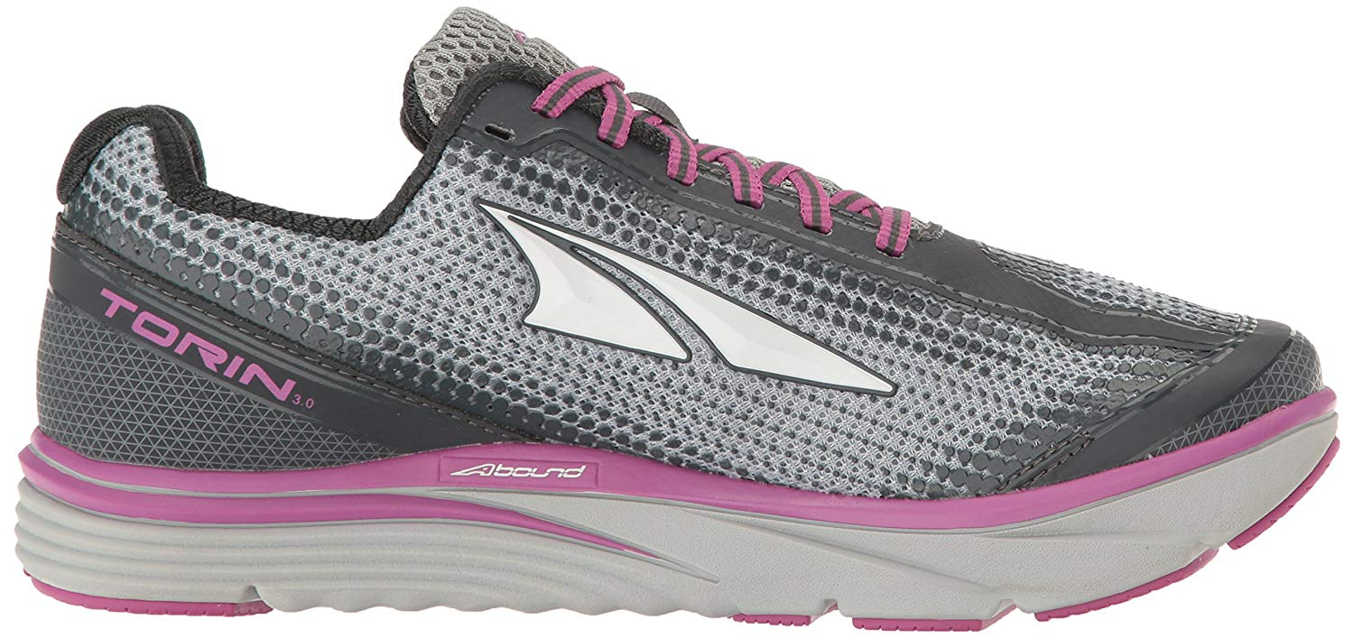Altra-Women-039-s-Torin-3-0-Comfort-Athletic-Road-Running-Shoes-Gray-Pink thumbnail 8