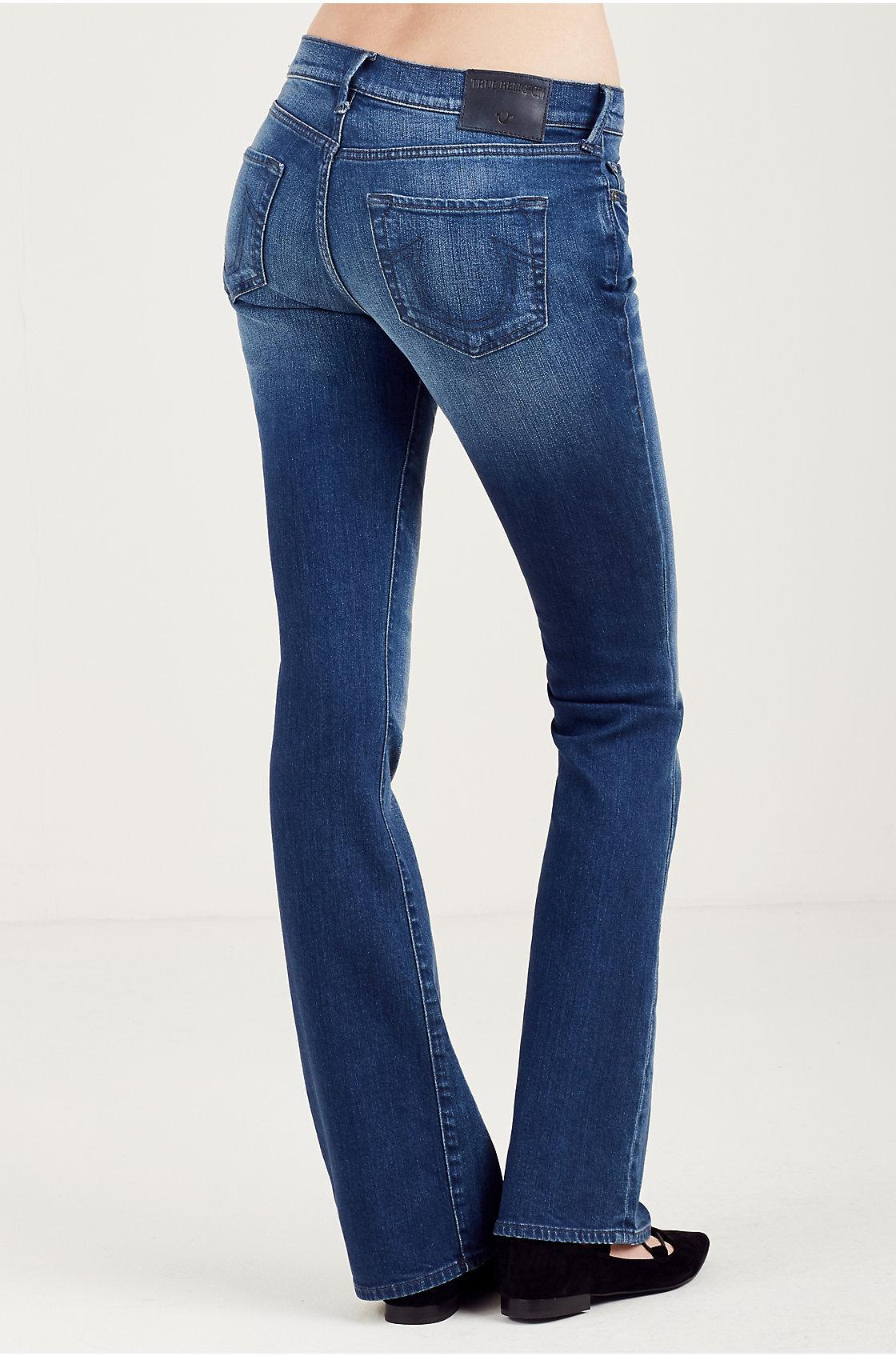 True Religion Mujer Becca Mediados De Subida Bootcut Jeans Ebay