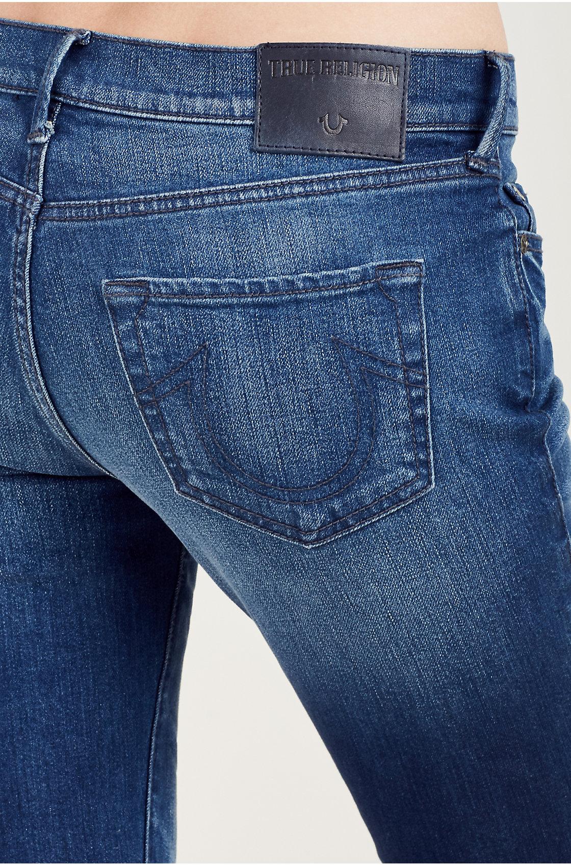 True-Religion-Women-039-s-Becca-Mid-Rise-Bootcut-Jeans thumbnail 5