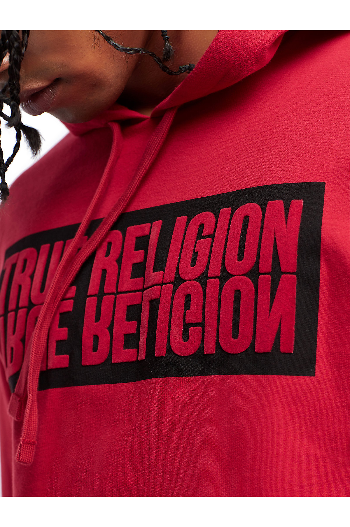True-Religion-Men-039-s-Mirror-Logo-Reflection-Pullover-Hoodie-Sweatshirt thumbnail 6