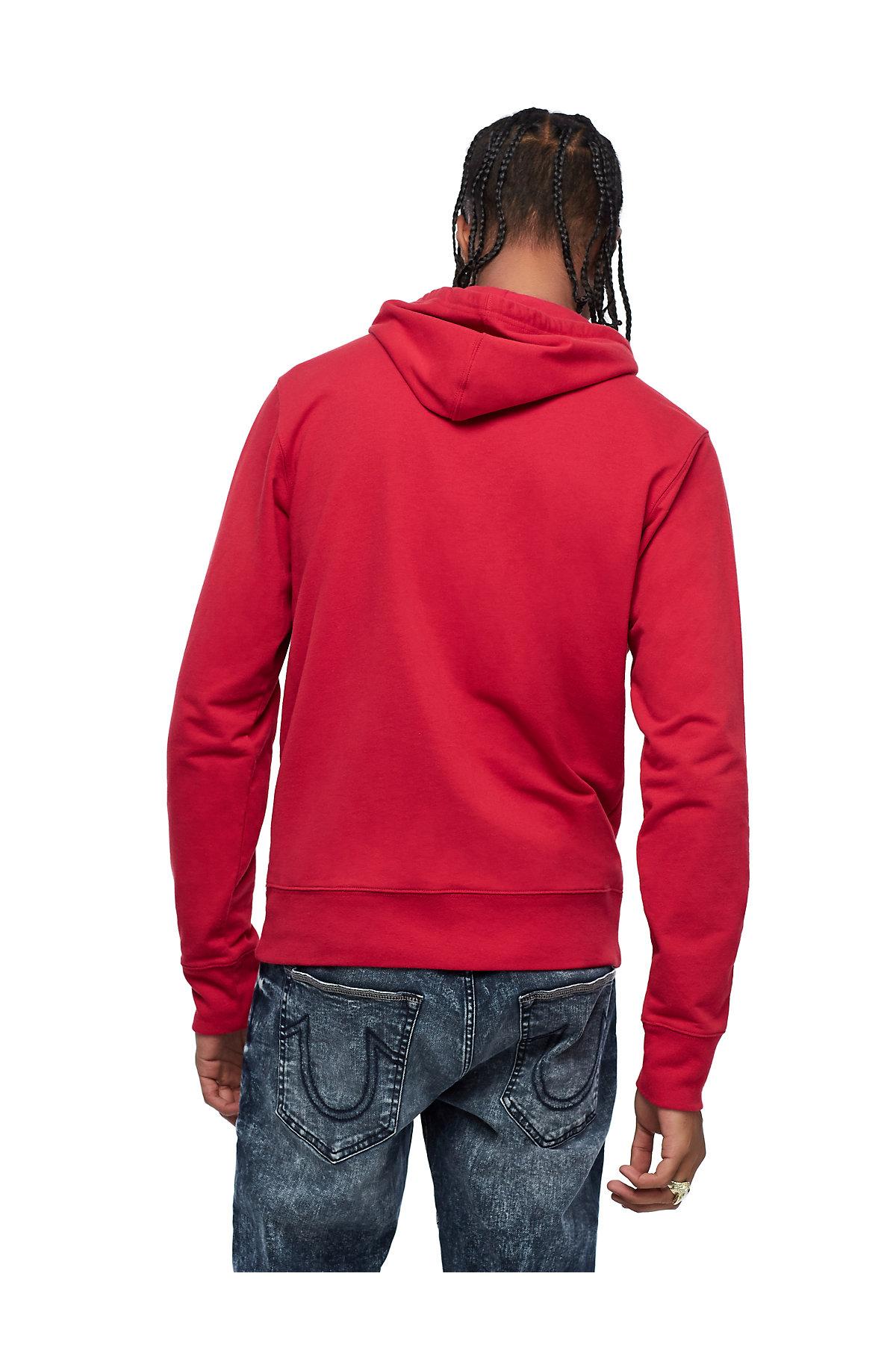 True-Religion-Men-039-s-Mirror-Logo-Reflection-Pullover-Hoodie-Sweatshirt thumbnail 4
