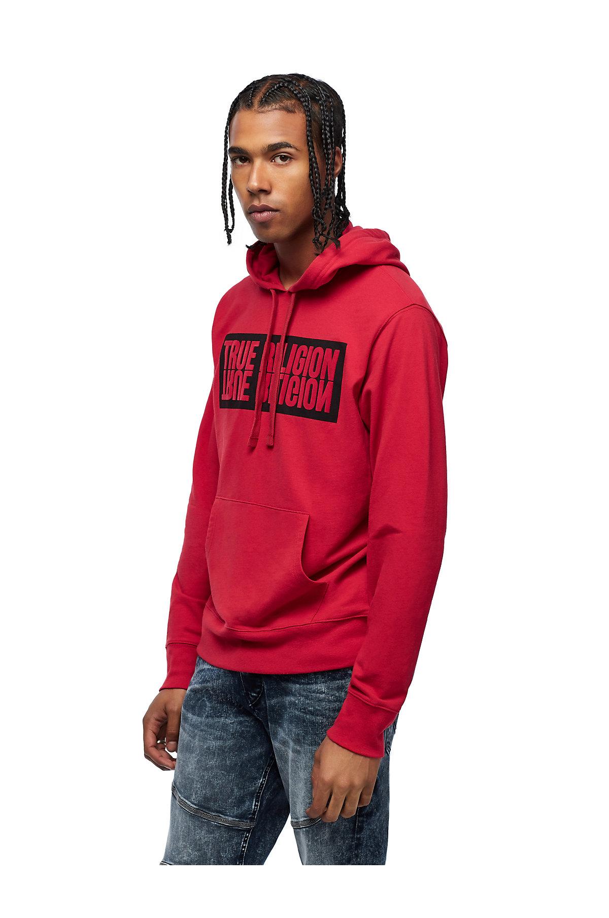True-Religion-Men-039-s-Mirror-Logo-Reflection-Pullover-Hoodie-Sweatshirt thumbnail 3