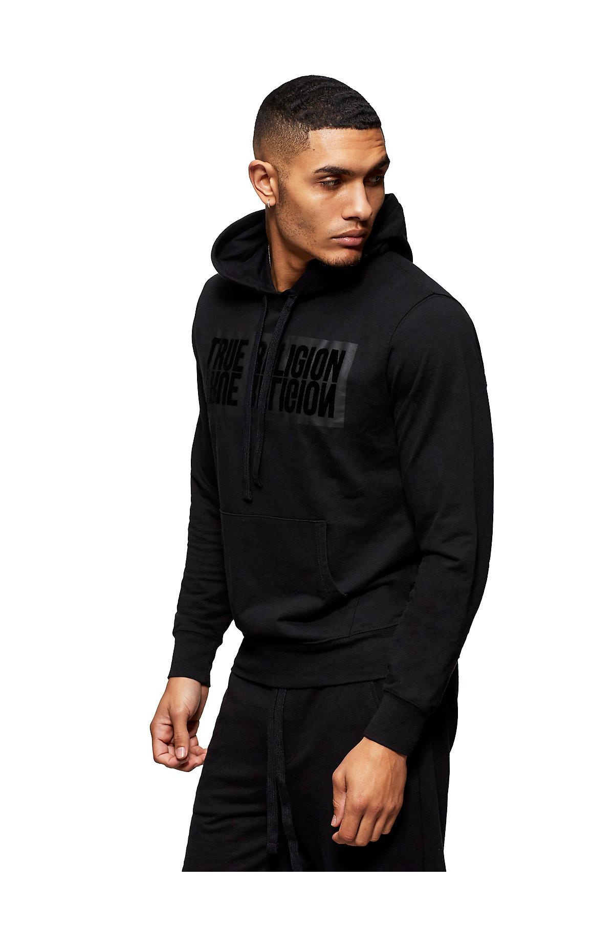 True-Religion-Men-039-s-Mirror-Logo-Reflection-Pullover-Hoodie-Sweatshirt thumbnail 8
