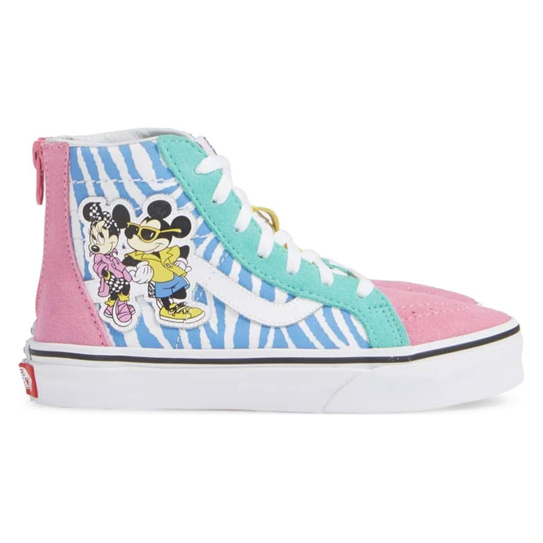 Details about Vans Kids Youth x Disney Mickey Mouse 90th Anniversary Sk8 Hi Zip Shoes