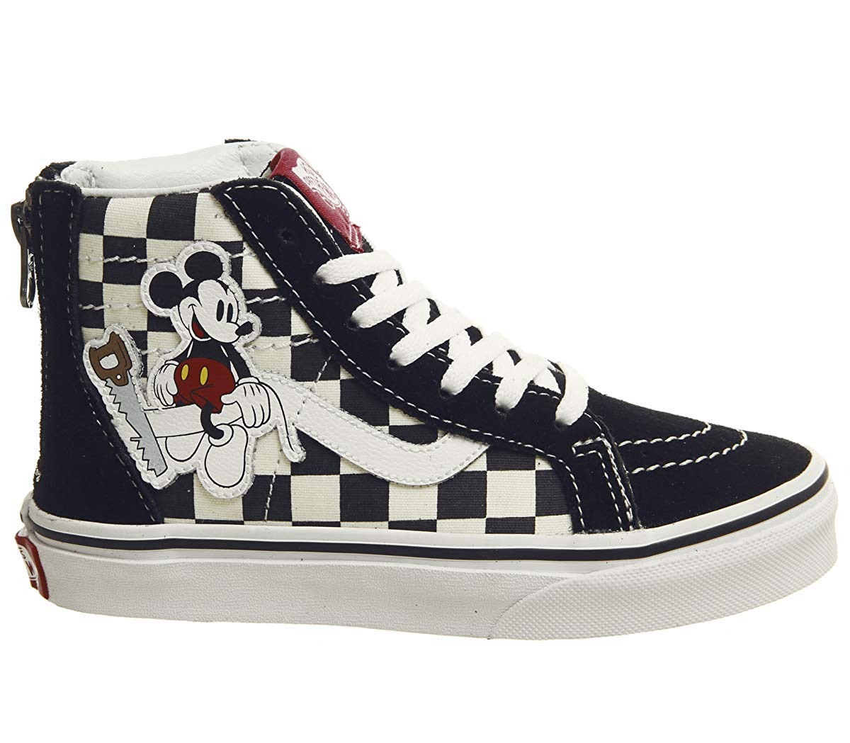 Details zu Vans Kids Youth x Disney Mickey Mouse 90th Anniversary Sk8 Hi Zip Shoes