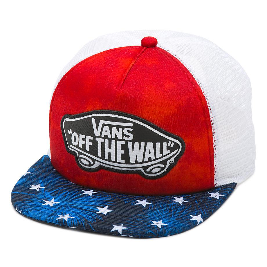 d69f28713d VANS Women s Beach Girl Trucker Hat Cap - American Flag