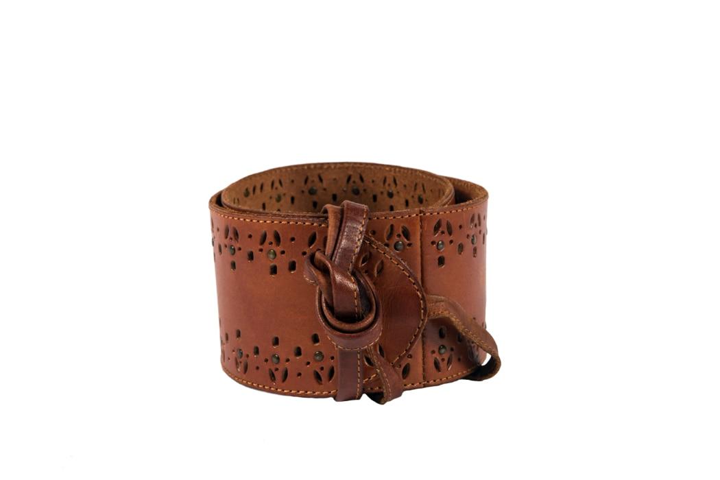 Noble Oufitters 29530-126 Womens Antique Brown Lariat Belt XX-Large