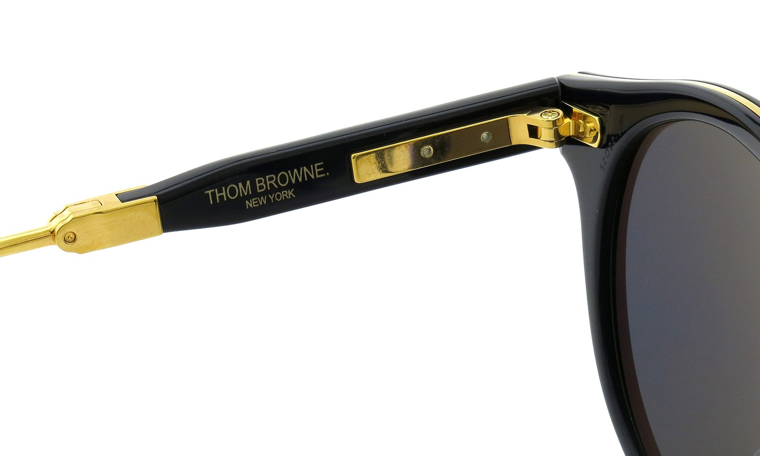 cb343372aba3 Authentic THOM BROWNE TB-806-C-NVY-GLD Sunglasses Navy-18K Gold  NEW ...
