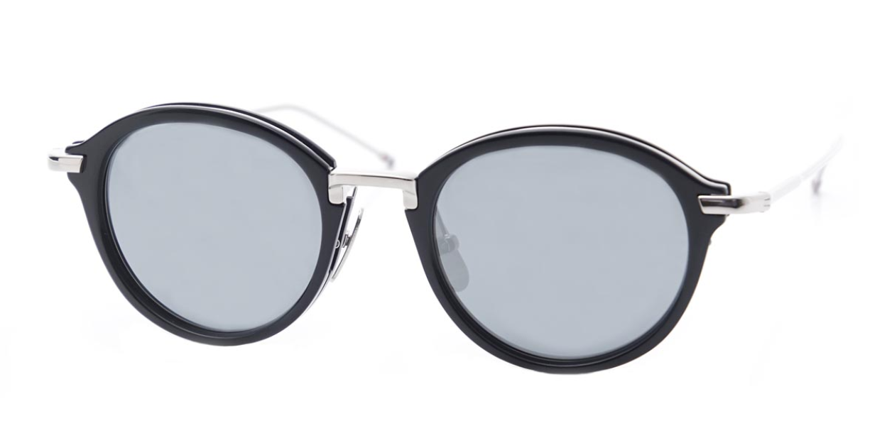 9af89f94e235 Authentic THOM BROWNE TB 011 H-T-NVY-SLV Sunglasses Navy-Silver ...