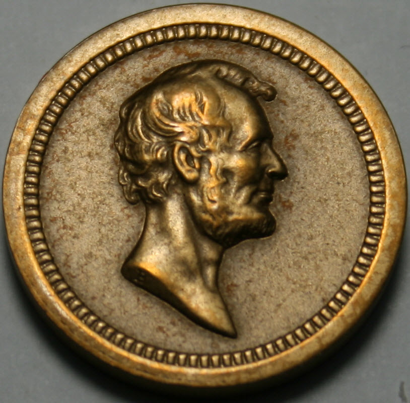 1863-4 Medal Washington-Jackson Bronze 19mm diameter same ...