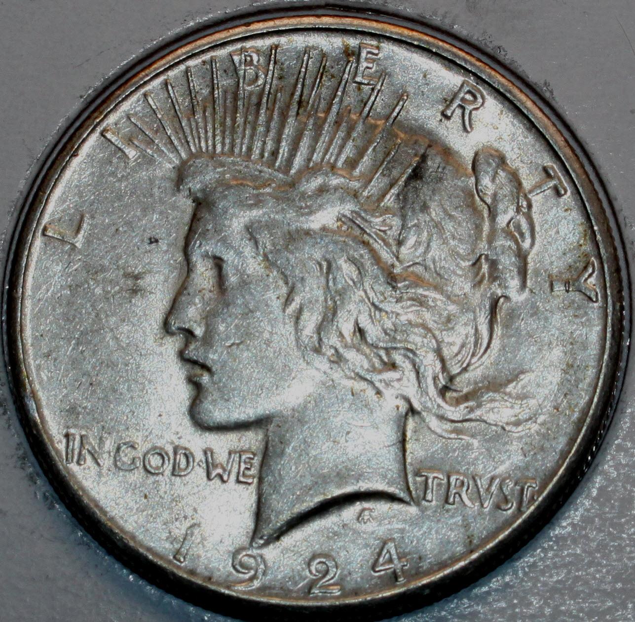 1924 1 dollar coin