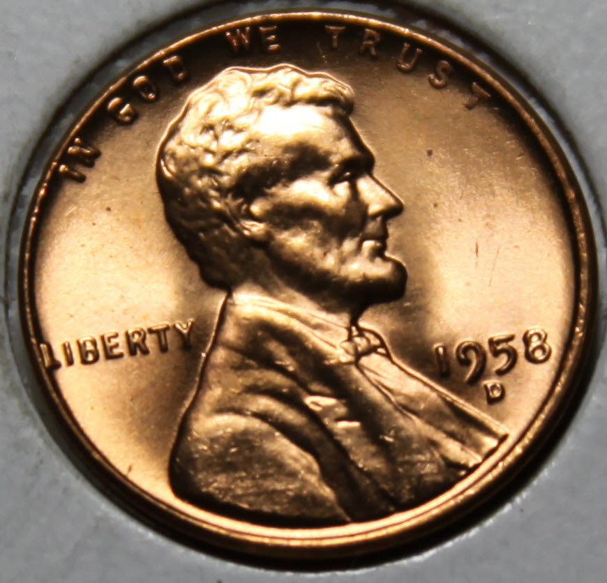 Details about 1958-D Wheat Cent Uncirculated Red Choice [SN32]