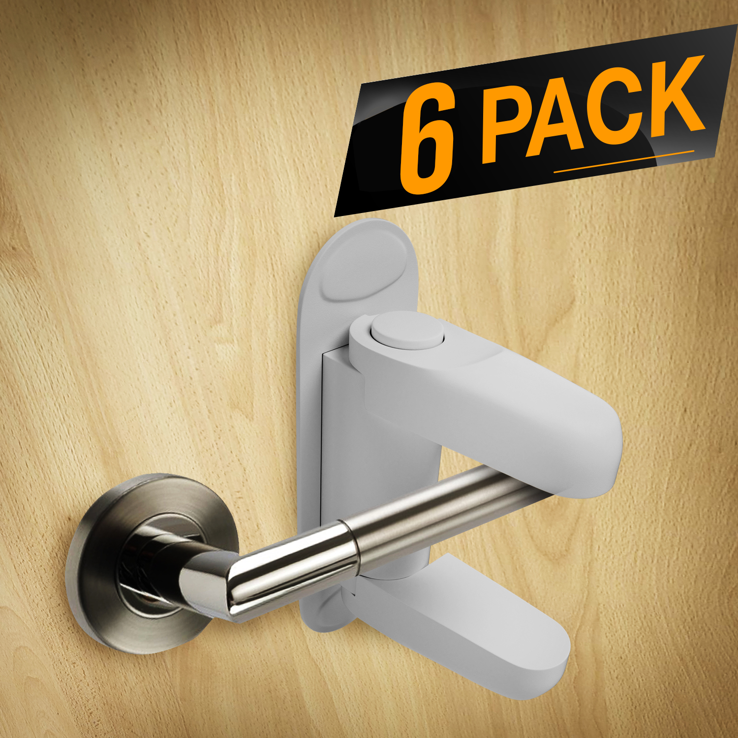 Baby Proofing Door Lever Locks Pack of 4 Door Handle Child Safety Lock