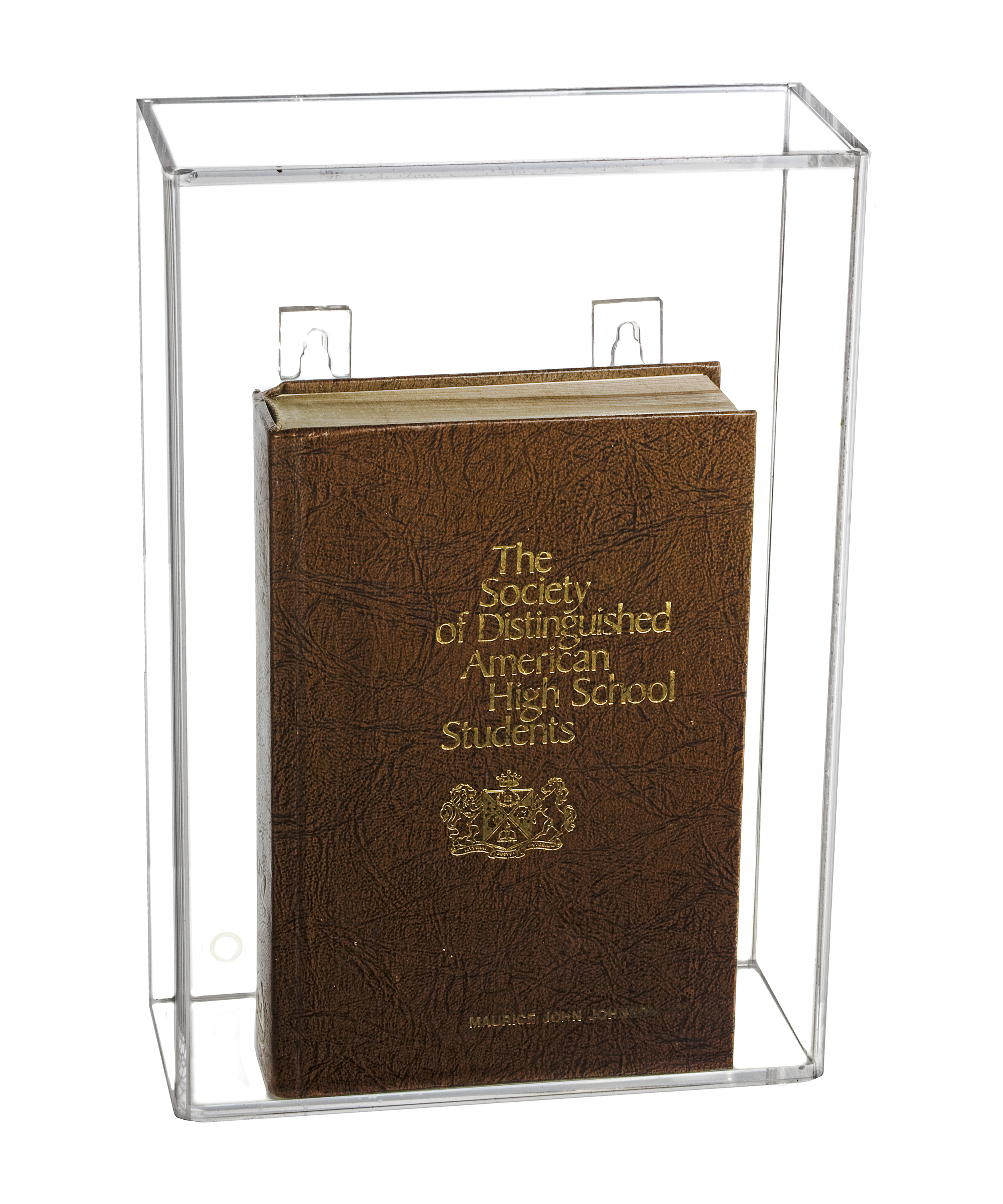 Deluxe Clear Acrylic Book Display Case A029