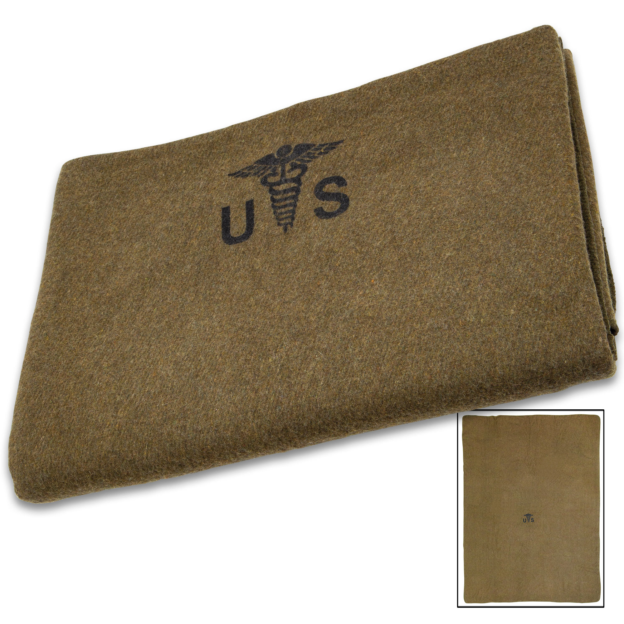 4lb Wool Blanket Olive Drab Green Warm Army Military Emergency Survival Camping