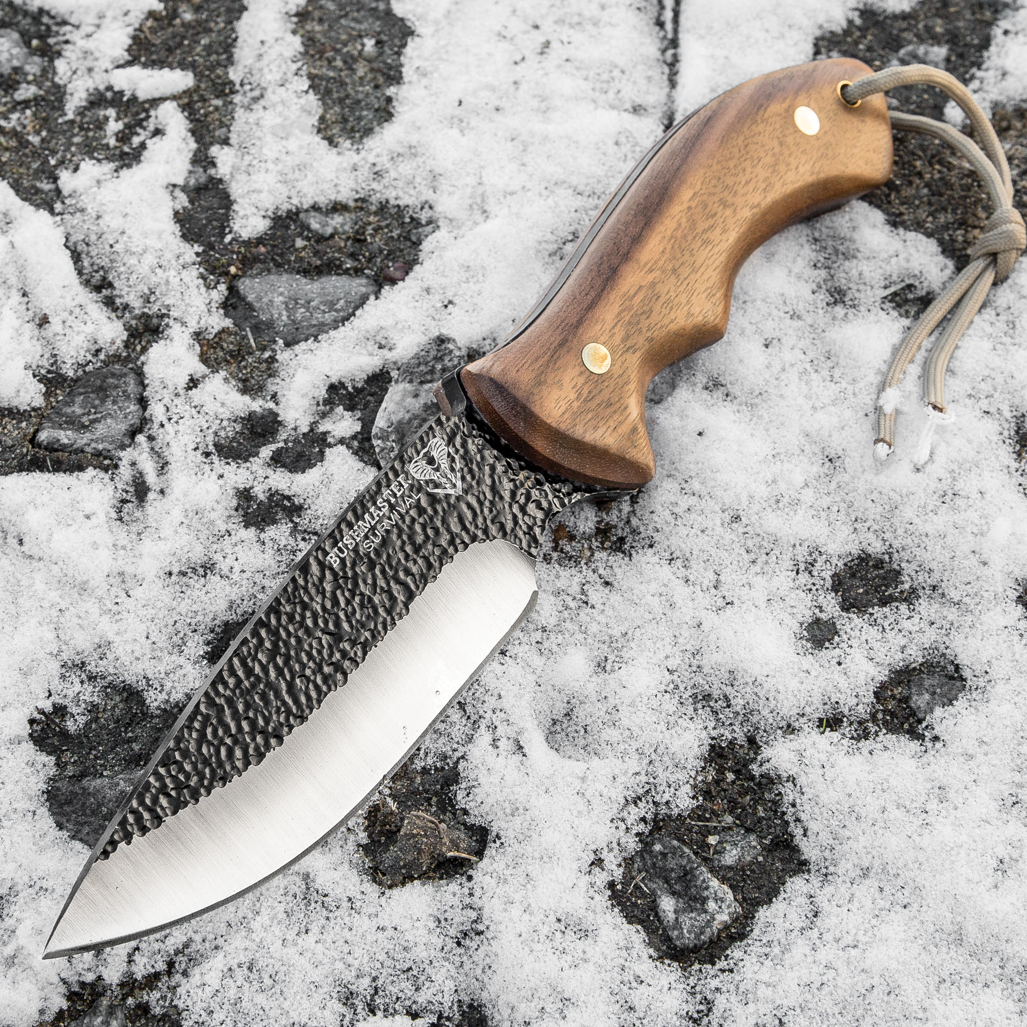 Details about Bushmaster Bushcraft Wood Hunting Survival Bowie Carbon Steel  Fixed Blade Knife
