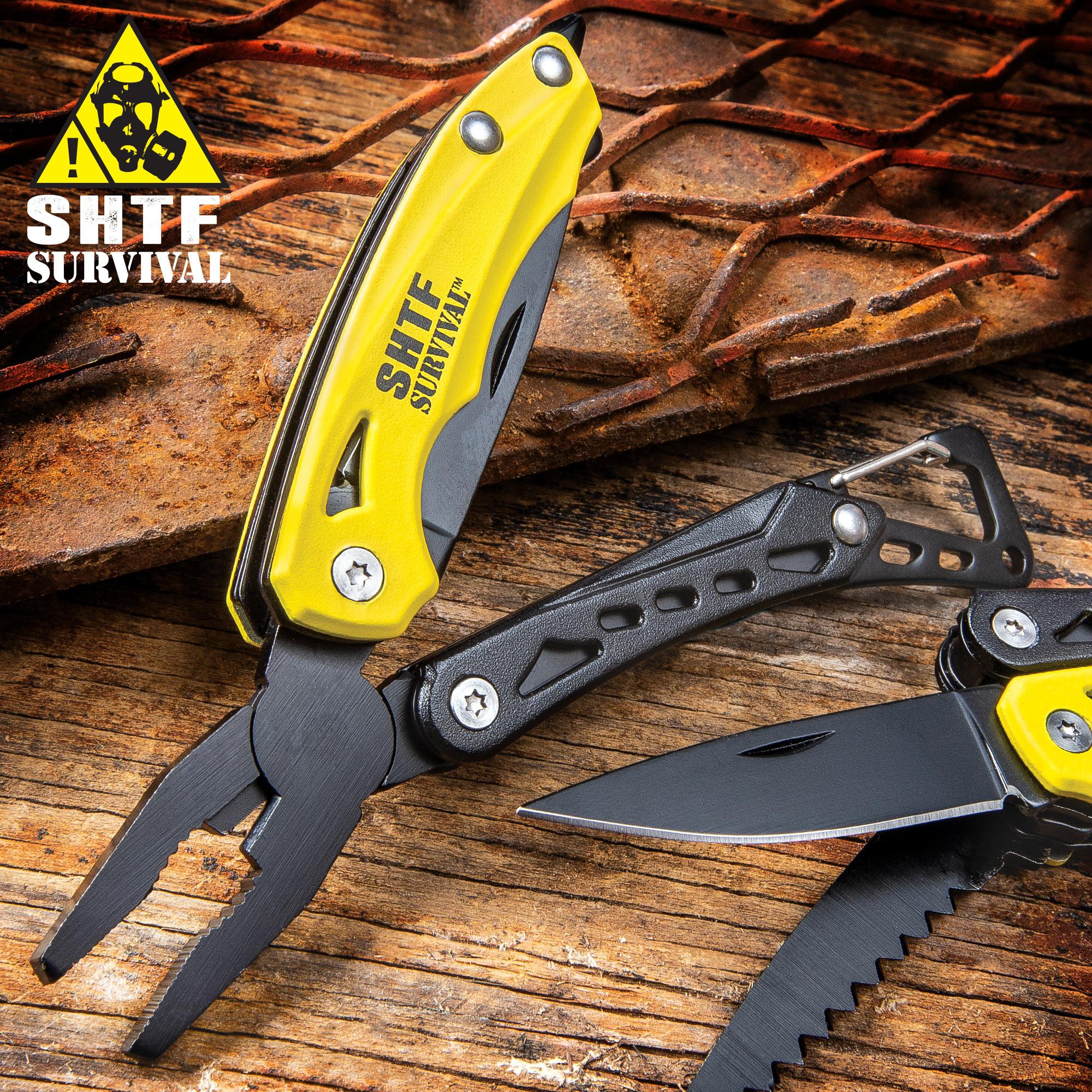 Survival Plier Fold Pocket Screwdriver Multi Tool Hiking Outdoor Camping Knives