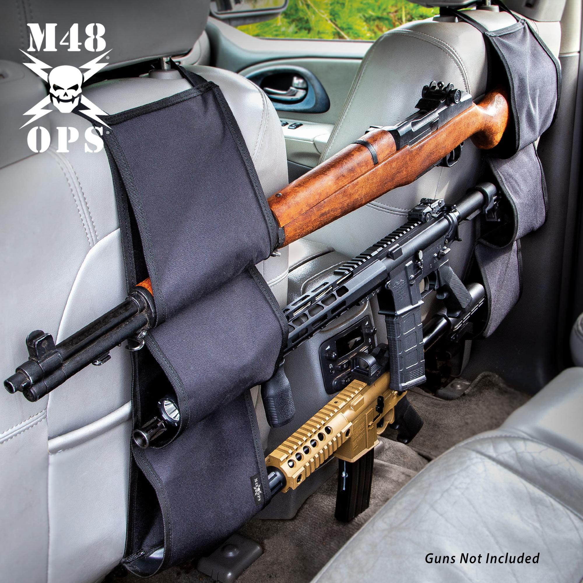 M48 Backseat Gun Rifle Rack Car Truck Storage Carrier Case Holder Hunting Pickup Ebay