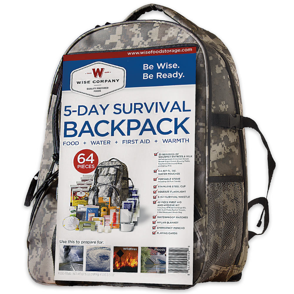 8a59abea8093 Details about 5 DAY SURVIVAL DISASTER KIT EMERGENCY PREPAREDNESS FOOD WATER  GEAR + BACKPACK