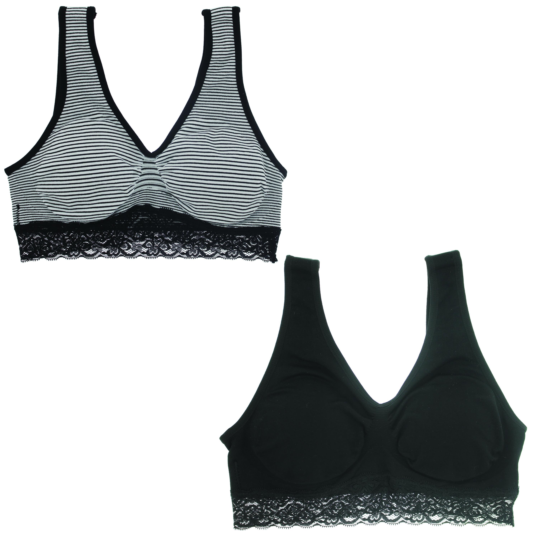 634f7055236b8 Marilyn Monroe Intimates Women s Seamless Striped Comfort Bra